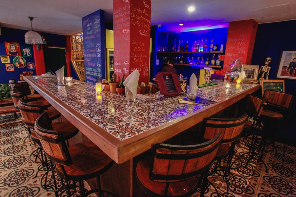 Bar area at Casa Azul