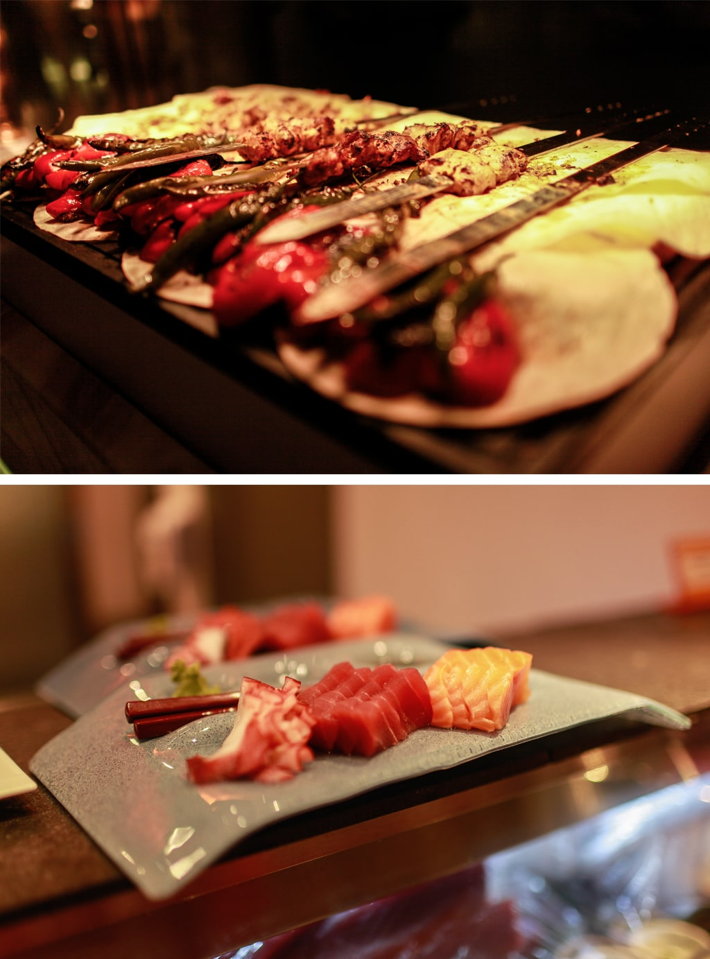 Food on offer at The Line Buffet