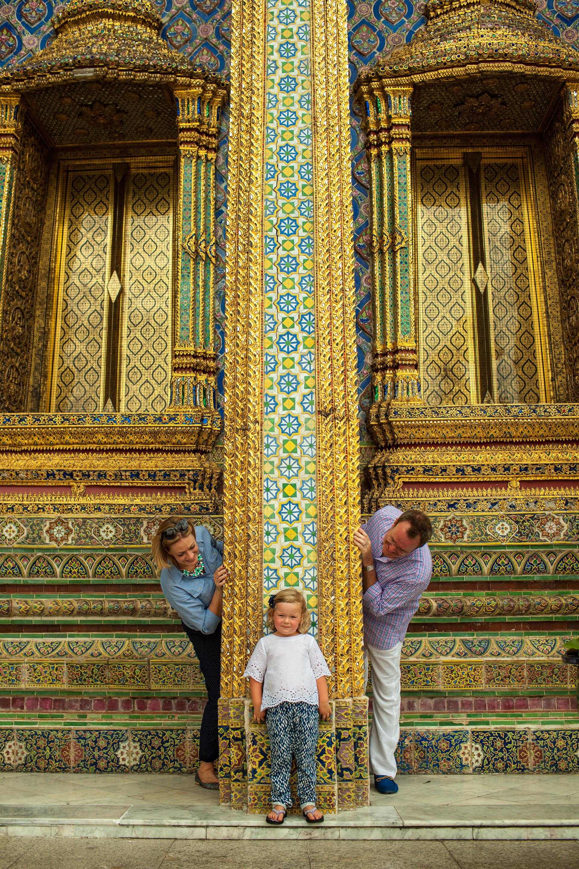 Beautiful Scottish family at Grand Palace