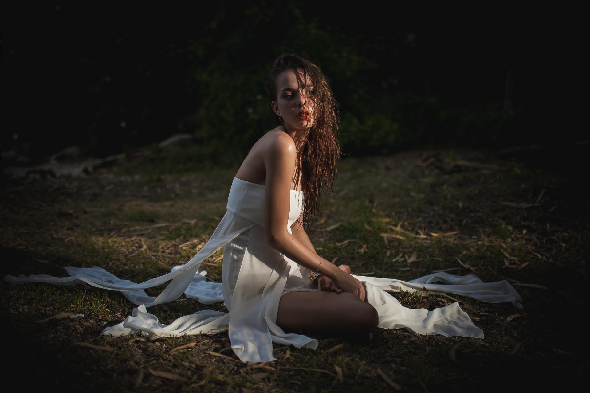 Russian model in beach photoshoot